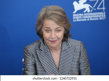 Venice, Italy. 08 September, 2017.  Charlotte Rampling  attend the photocall of the movie 'Hannah' presented in competition at the 74th Venice Film Festival
