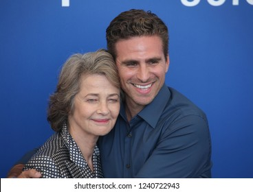 Venice, Italy. 08 September, 2017.  Charlotte Rampling  and Andrea Pallaoro attend the photocall of the movie 'Hannah' presented in competition at the 74th Venice Film Festival