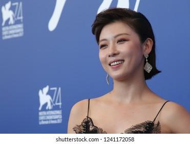 Venice, Italy. 08 September, 2017. Ha Jiwon attends the 'Zhuibu (Manhunt)' photocall during the 74th Venice Film Festival