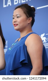 Venice, Italy. 08 September, 2017. Angeles Woo attends the 'Zhuibu (Manhunt)' photocall during the 74th Venice Film Festival