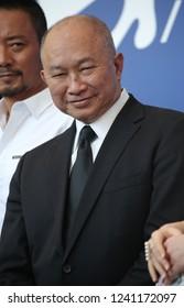 Venice, Italy. 08 September, 2017. John Woo attends the 'Zhuibu (Manhunt)' photocall during the 74th Venice Film Festival