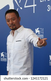 Venice, Italy. 08 September, 2017. Zhang Hanyu attends the 'Zhuibu (Manhunt)' photocall during the 74th Venice Film Festival