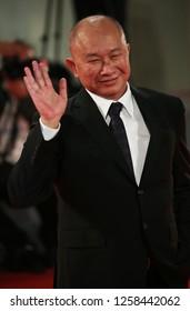 Venice, Italy. 08 September, 2017. John Woo walk the red carpet ahead of the 'Manhunt (Zhuibu)' screening during the 74th Venice Film Festival