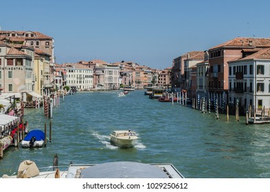 Venice, Italy - 08/03/2015 : View of grand canal in Venice