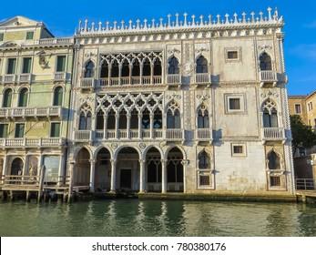 Venice, Italy - 08/05/2012 - Venice, Italy - Grand Canal Casa D'Oro