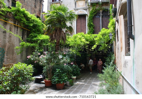 Venice Italy 08202017 Little Courtyard Garden Stock Photo Edit