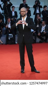Venice, Italy. 09 September, 2017. Michael Roskam  walks the red carpet ahead of the 'Racer And The Jailbird (Le Fidele)' screening during the 74th Venice