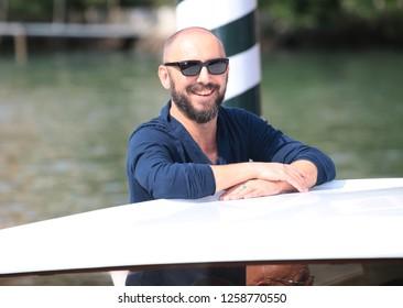 Venice, Italy. 09 September, 2017. Michael Roskam  leave from Hotel Excelsior