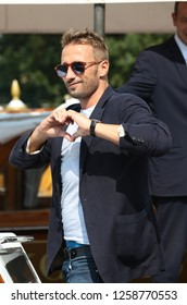Venice, Italy. 09 September, 2017. Matthias Schoenaerts leave from Hotel Excelsior