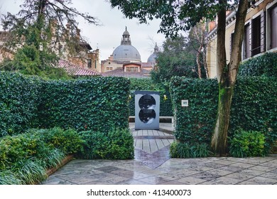 VENICE, ITALY -10 MARCH 2016- Housed in the Palazzo Venier dei Leoni on the Grand Canal in Venice, the Peggy Guggenheim Collection is a modern art museum .