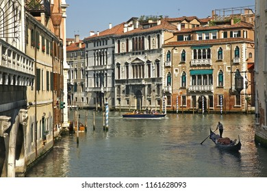 VENICE. ITALY. 12 MAY 2010 : View of old cannel in Venice. Region Veneto. Italy