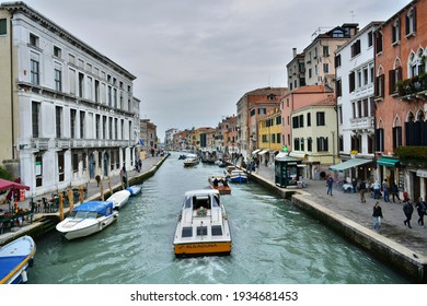 Venice, Italy - 13.10.2016 : Grand canal view from Venice city Rialto Bridge
