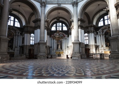 VENICE, ITALY: 17th of August 2014: Santa Maria Della Salute, Church of Health, Grand canal on 17th of August 2014 in VENICE, ITALY