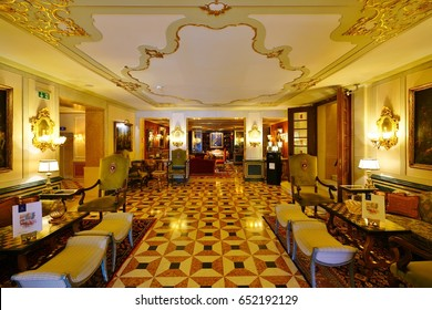 VENICE, ITALY -18 APRIL 2017- The Gritti Palace, a famous historic luxury hotel overlooking the Grand Canal, was sold by Starwood to Qatar's Nozul hotels and resorts in May 2015.