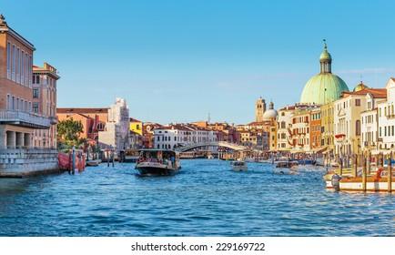 VENICE, ITALY - 26 JUNE, 2014: Grand Canal in Venice Italy