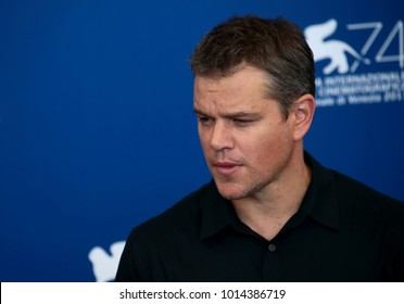 Venice, Italy. 30 August, 2017.  Matt Damon attend the 'Downsizing' photocall during the 74th Venice Film Festival