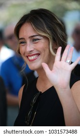 Venice, Italy. 31th August, 2017. Maria Elena Boschi at the Hotel Excelsior