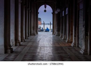 Venice, Italy, April 18 2020 venice during the lockdown. during Covid-19 emergency. Venice in lockdown Health