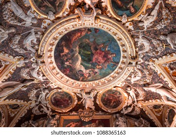 VENICE, ITALY, APRIL 21, 2018 : interiors and architectural details of the doge's palace, april 21, 2018,  in Venice, italy
