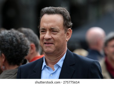 "VENICE, ITALY - APRIL 28: Tom Hanks during the filming of ""Inferno"" of Ron Howard in Venice, Italy 28 april 2015"