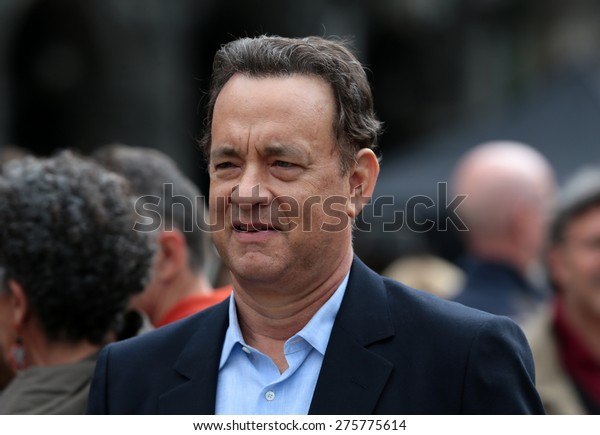 """VENICE, ITALY - APRIL 28: Tom Hanks during the filming of """"Inferno"""" of Ron Howard in Venice, Italy 28 april 2015"""