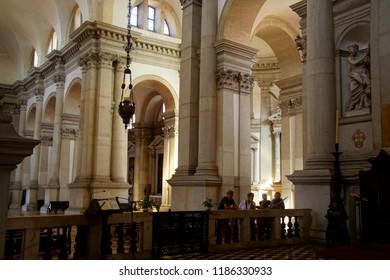 VENICE, ITALY - AUG 12, 2018 - Interior of the San Giorgio church in Venice, Italy