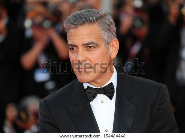 VENICE, ITALY - AUGUST 28: George Clooney attend 'Gravity' Premiere and Opening Ceremony during the 70th Venice International Film Festival on August 28, 2012 in Venice, Italy