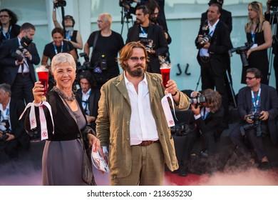 VENICE, ITALY - AUGUST 28: Giuseppe Battiston attends the 'La Rancon De La Gloire' Premiere during the 71st Venice Film Festival on August 28, 2014 in Venice, Italy