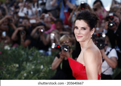 VENICE, ITALY - AUGUST 28: Sandra Bullock  attends the Opening Ceremony And 'Gravity' Premiere during the 70th Venice Film Festival on August 28, 2013 in Venice, Italy.