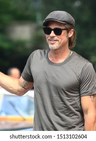 VENICE, ITALY - AUGUST 29: Brad Pitt is seen arriving at the 76th Venice Film Festival on August 29, 2019 in Venice, Italy.