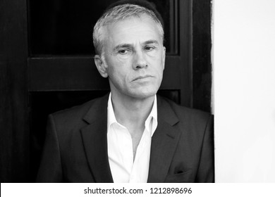 VENICE, ITALY - AUGUST 29: Christoph Waltz attends the Jury photo-call during the 75th Venice Film Festival on August 29, 2018 in Venice, Italy.
