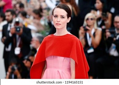 VENICE, ITALY - AUGUST 29: Claire Foy attends the premiere of the movie 'First Man' and the opening gala during the 75th Venice Film Festival on August 29, 2018 in Venice, Italy.