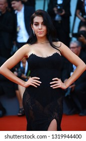 VENICE, ITALY - AUGUST 29: Georgina Rodriguez walks the red carpet of the 'First Man' screening during the 75th Venice Film Festival on August 29, 2018 in Venice, Italy.