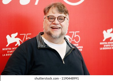 VENICE, ITALY - AUGUST 29: Guillermo Del Toro attends the Jury photo-call during the 75th Venice Film Festival on August 29, 2018 in Venice, Italy.