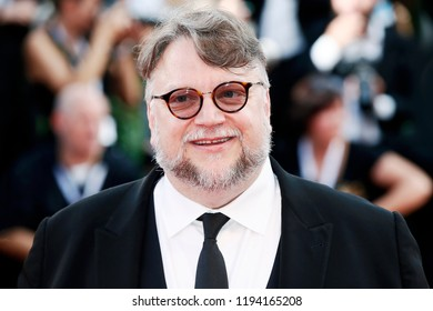 VENICE, ITALY - AUGUST 29: Guillermo del Toro attends the premiere of the movie 'First Man' and the opening gala during the 75th Venice Film Festival on August 29, 2018 in Venice, Italy.