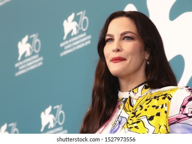 """VENICE, ITALY - AUGUST 29: Liv Tyler attends """"Ad Astra"""" photocall during the 76th Venice Film Festival at Sala Grande on August 29, 2019 in Venice, Italy"""