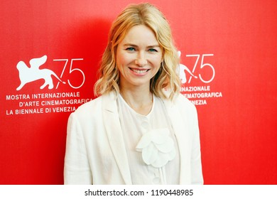 VENICE, ITALY - AUGUST 29: Naomi Watts attends the Jury photo-call during the 75th Venice Film Festival on August 29, 2018 in Venice, Italy.