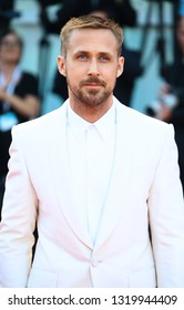 VENICE, ITALY - AUGUST 29: Ryan Gosling walks the red carpet of the 'First Man' screening during the 75th Venice Film Festival on August 29, 2018 in Venice, Italy.