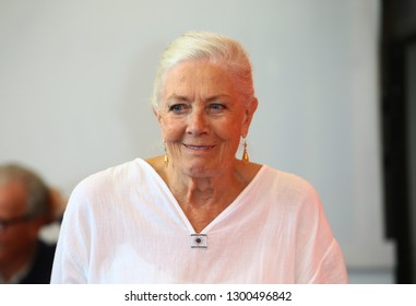 VENICE, ITALY - AUGUST 29: Vanessa Redgrave attend a photocall where she is awarded a Lifetime Achievement Award during the 75th Venice Film Festival on August 29, 2018 in Venice, Italy