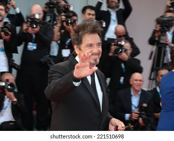 VENICE, ITALY - AUGUST 30:  Al Pacino  attend 'Manglehorn' premiere during the 71st Venice Film Festival  in August 30, 2014 in Venice, Italy