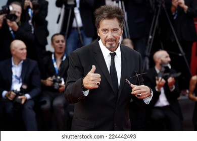 VENICE, ITALY - AUGUST 30: Al Pacino attends 'Manglehorn' premiere during the 71st Venice Film Festival at Sala Grande on August 29, 2014 in Venice, Italy.