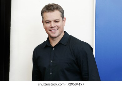 VENICE, ITALY - AUGUST 30: Matt Damon  attends the photo-call of the movie 'Downsizing' during the 74th Venice Film Festival on August 30, 2017 in Venice, Italy.