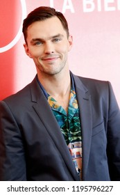 VENICE, ITALY - AUGUST 30: Nicholas Hoult attends 'The Favourite' photo-call during the 75th Venice Film Festival on August 30, 2018 in Venice, Italy.