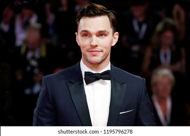 VENICE, ITALY - AUGUST 30: Nicholas Hoult walks the red carpet of the movie 'The Favourite' during the 75th Venice Film Festival on August 30, 2018 in Venice, Italy.