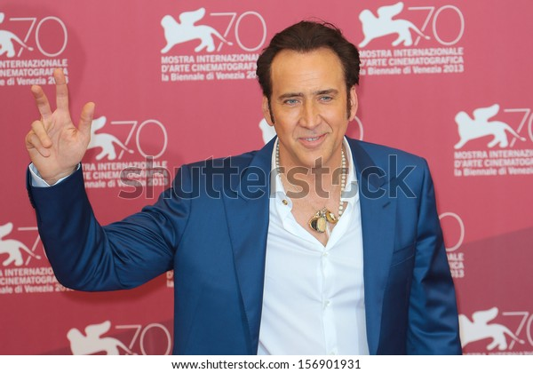 VENICE, ITALY - AUGUST 30: Nicolas Cage at the 'Joe' Photocall during the 70th Venice International Film Festival on August 30, 2013 in Venice, Italy