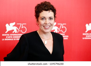 VENICE, ITALY - AUGUST 30: Olivia Colman attends 'The Favourite' photo-call during the 75th Venice Film Festival on August 30, 2018 in Venice, Italy.