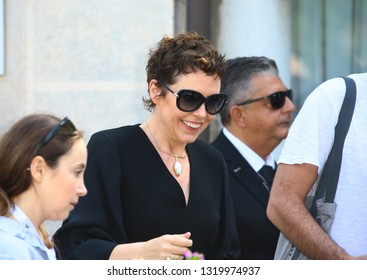 VENICE, ITALY - AUGUST 30: Olivia Colman is seen during the 75th Venice Film Festival on August 30, 2018 in Venice, Italy.