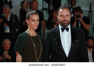VENICE, ITALY - AUGUST 30: Yorgos Lanthimos and Ariane Labed walks the red carpet of the 'The Favourite'screening during the 75th Venice Film Festival on August 30, 2018 in Venice, Italy