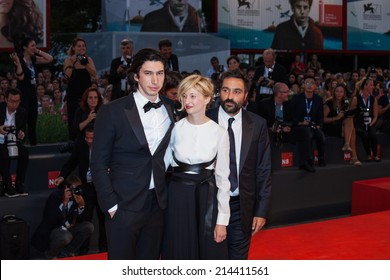 VENICE, ITALY - AUGUST 31: Actors Adam Driver, Alba Rohrwacher and director Saverio Costanzo attends the 'Hungry Hearts' premiere during the 71 Venice Film Festival on August 31, 2014 in Venice, Italy