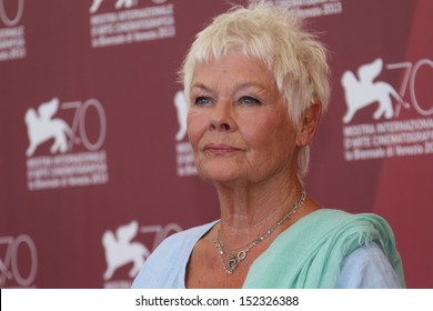 VENICE, ITALY - AUGUST 31: Actress Judi Dench attends 'Philomena' Photocall during the 70th Venice International Film Festival at Palazzo del Casino on August 31, 2013 in Venice, Italy